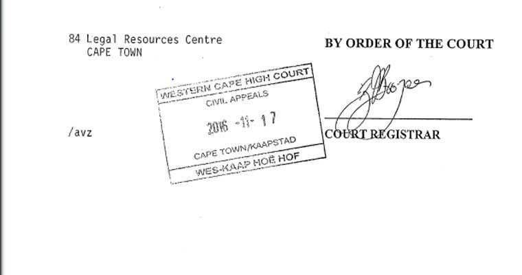 Cape Town angolan permanent residency permits court order