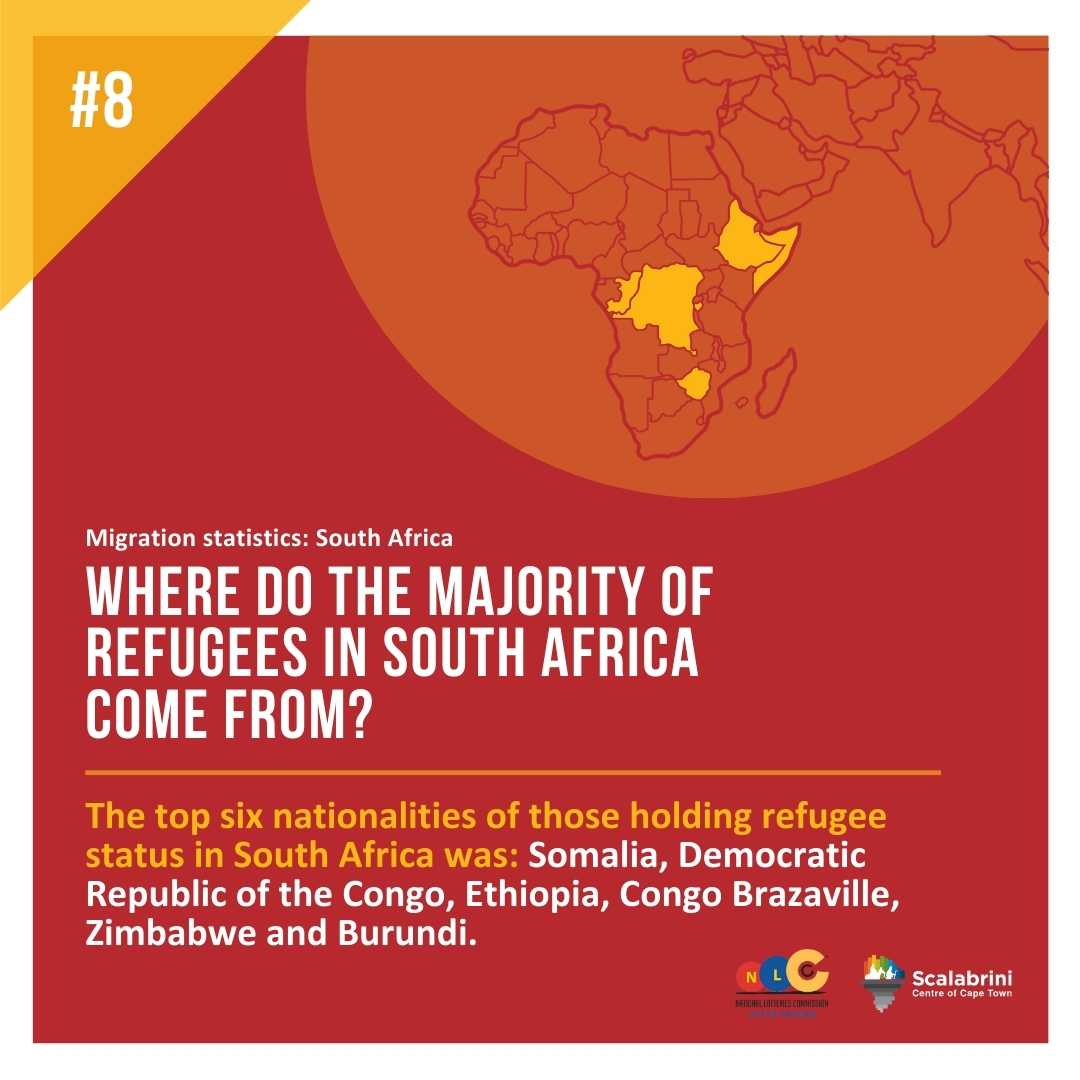 WHERE DO THE MAJORITY OF REFUGEES IN SOUTH AFRICA COME FROM?