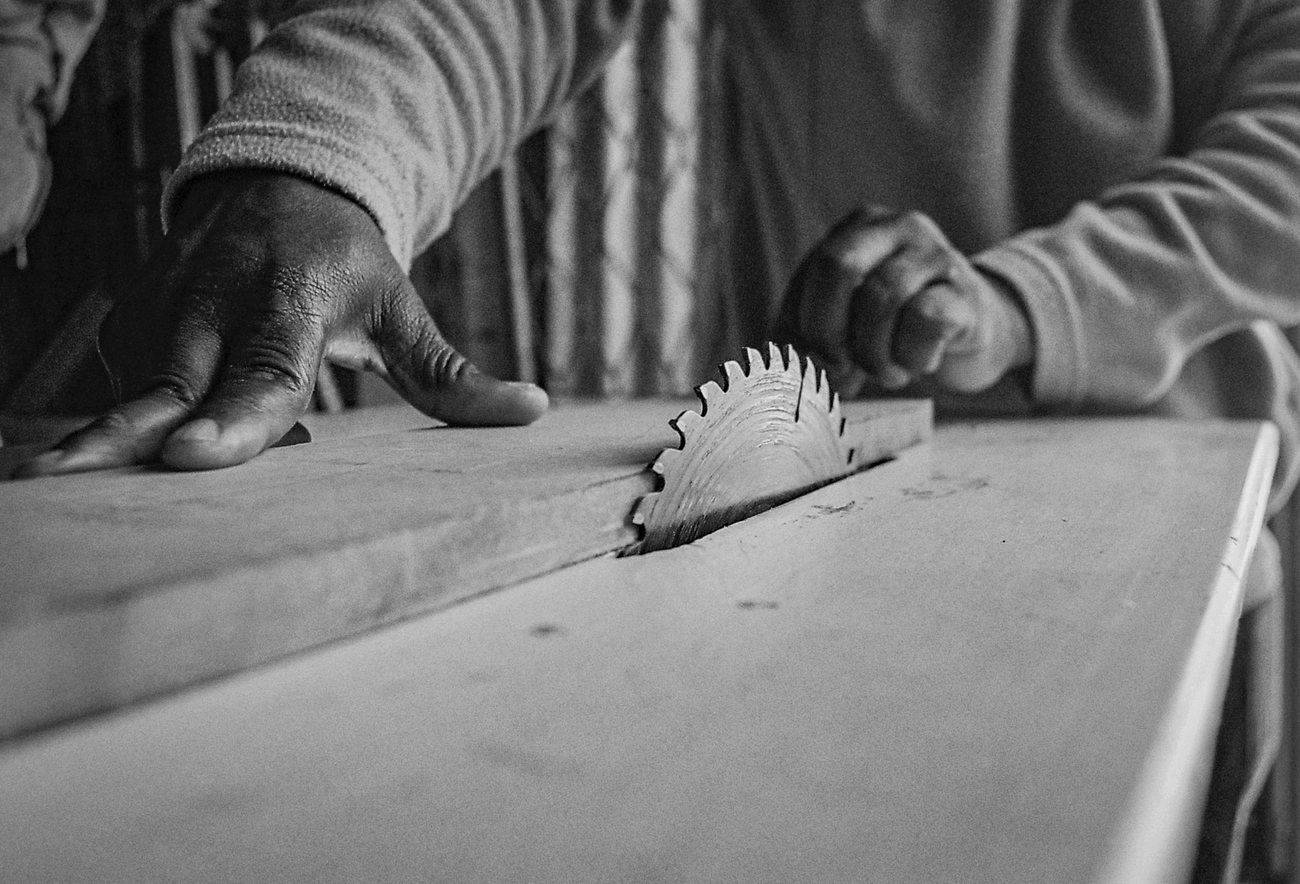 Andrew at his carpentry workshop Suggested Credit Quentin Pichon Scalabrini