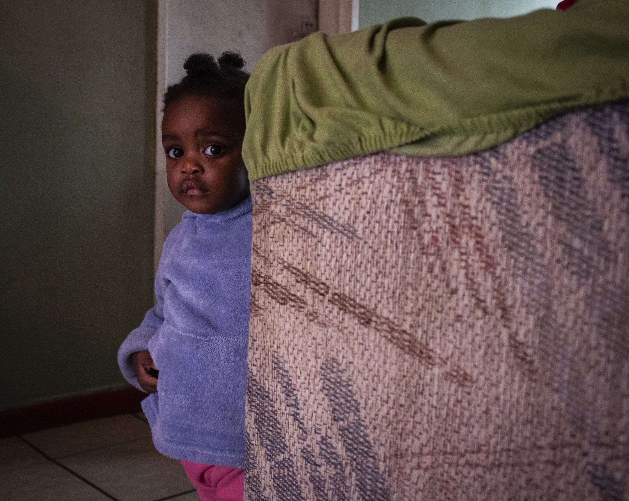Baby girl at home. Suggested Credit Quentin Pichon/ Scalabrini
